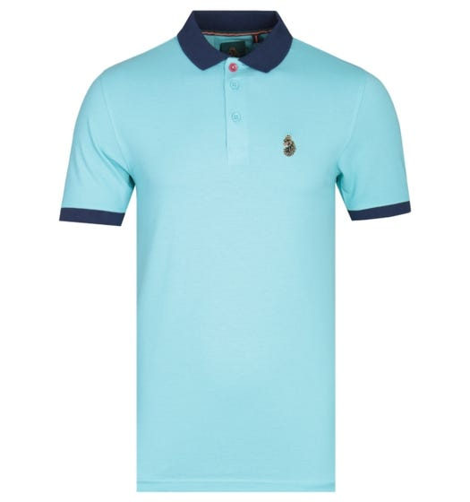 Luke 1977 Texas Short Sleeve Pure Sky Blue Polo Shirt