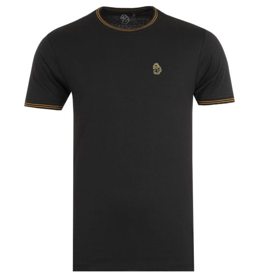 Luke 1977 Looper Gold Twin Tipped Black T-Shirt