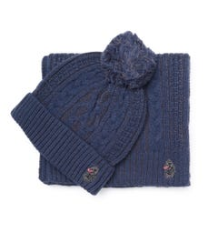 Luke 1977 Baigib Navy Hat & Scarf Gift Set