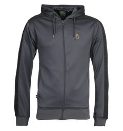 Luke 1977 Trico Charcoal Zip-Through Hoodie