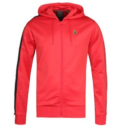 Luke 1977 Trico City Red Zip-Through Hoodie