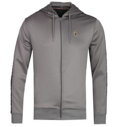 Luke 1977 Trico Mid Grey Zip-Through Hoodie