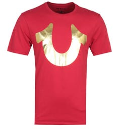 True Religion Foil Horseshoe Red T-Shirt
