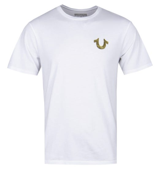 True Religion Gold Buddha White T-Shirt