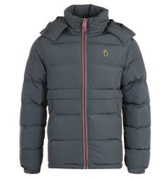 Luke 1977 Mallard Charcoal Heavy Quilted Hooded Jacket