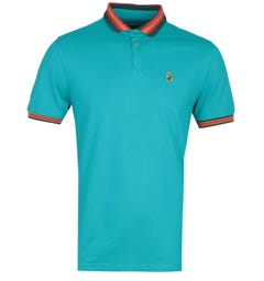 Luke 1977 Short Sleeve Blue Shooting Star Polo Shirt