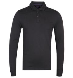 Luke 1977 Long Boycie Long Sleeve Black Polo Shirt