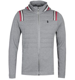 Luke 1977 Antwerp Stripe Detail Zip Through Grey Jacket