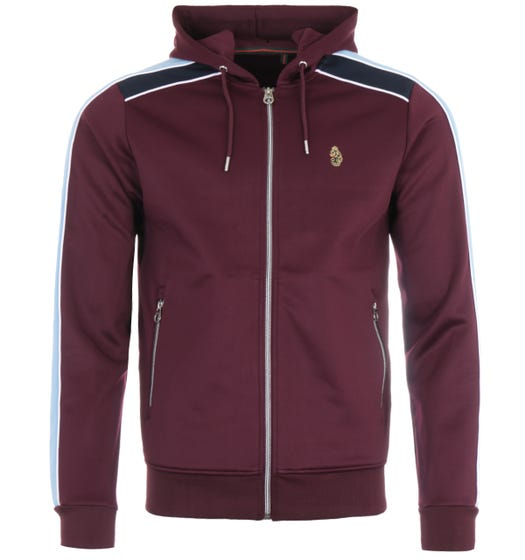 Luke 1977 Gathering Zipped Hooded Sweatshirt - Dark Claret