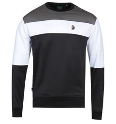 Luke 1977 Loki Colour Block Black Sweatshirt