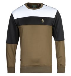 Luke 1977 Loki Colour Block Khaki Sweatshirt