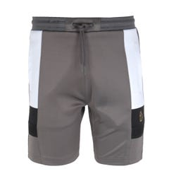 Luke 1977 Hod Colour Block Grey Sweat Shorts