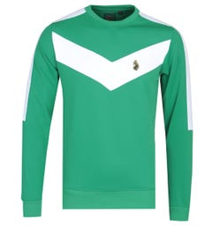 Luke 1977 Casa Veija Chevron Green Sweatshirt