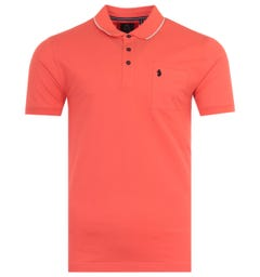 Luke 1977 Billiant News Tipped Polo Shirt - Coral