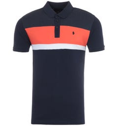 Luke 1977 Scott Haywood Dot Polo Shirt - Navy