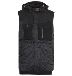 Luke 1977 Giltarian Black Utility Pocket Gilet