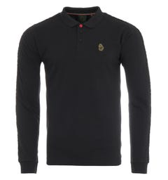 Luke 1977 Willtape Long Sleeve Polo Shirt - Black