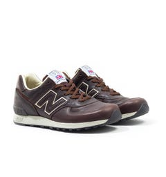 New Balance M576 Made in England Brown Leather Trainers
