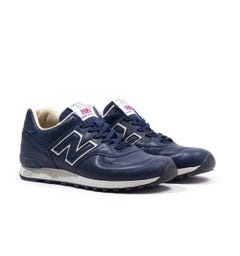 New Balance M576 Made in England Navy Leather Trainers