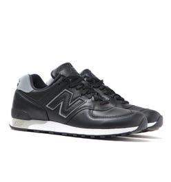 New Balance Made In England M576 Black Leather Trainers