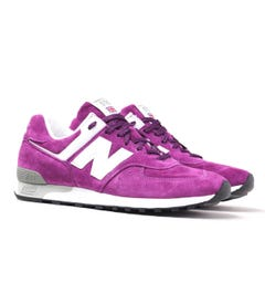 New Balance Made In England M576 Purple Suede Trainers
