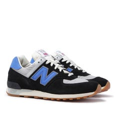 New Balance Made In England M576 Black & Blue Suede Trainers