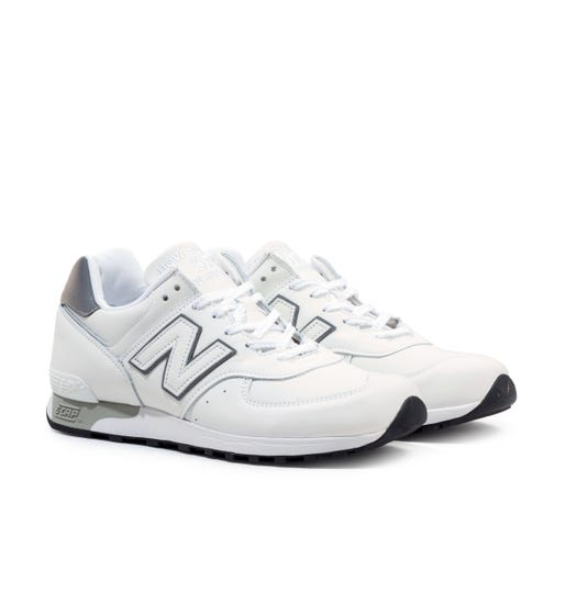 New Balance M576 Made In England White Trainers