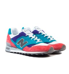 New Balance Made In England M577 Pale Pink, Blue & Purple Trainers
