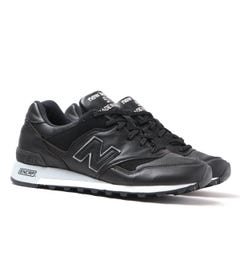 New Balance Made In England M577 Black Leather Trainers