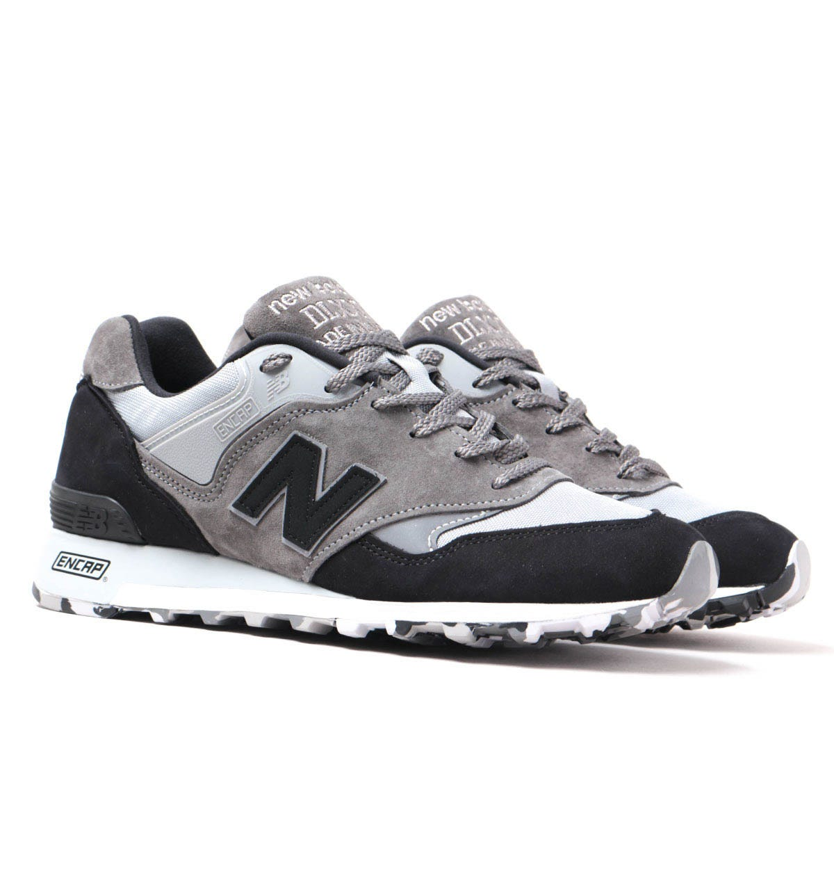 deletrear diapositiva Alfombra de pies  New Balance Made In England M577 Grey & Black Suede Trainers