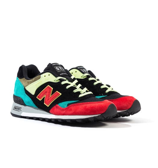 New Balance Made In England M577 Multi Colour & Black Suede Trainers