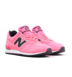 New Balance 670 Made in England 'Neon Pack' Suede Trainers - Pink