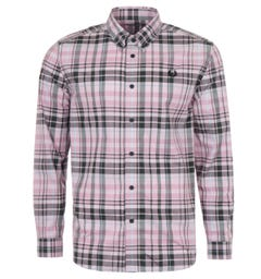 Fred Perry Check Long Sleeve Shirt - Dusty Pink