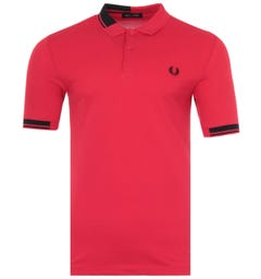 Fred Perry Abstract Tipped Polo Shirt - Red
