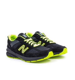 New Balance M990 Made In The USA Black & Yellow Trainers