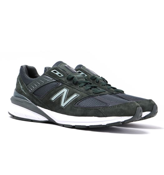 New Balance M990 Made in USA Forest Green Suede Trainers