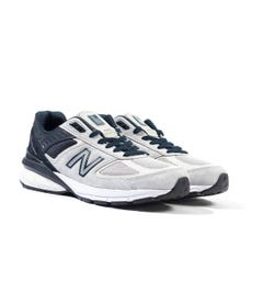 New Balance M990 Made In The USA Grey & Navy Suede Trainers