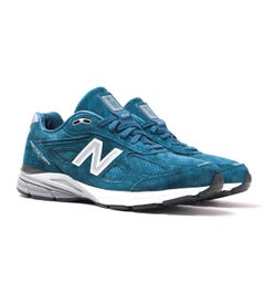 New Balance M990 Made in USA North Sea Blue Suede Trainers