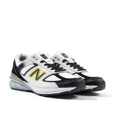 New Balance M990 Made In The USA Grey & Black Fade Suede Trainers
