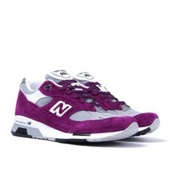 New Balance M991 Purple & Grey Made In England Trainers
