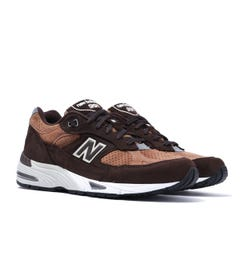 New Balance M991 Made in England Dark Brown Suede Trainers