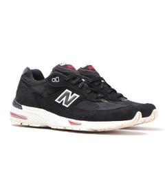 New Balance M991 Made In England Black Nubuck Trainers