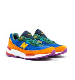 New Balance M992 Made In The USA Orange & Blue Trainers