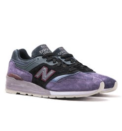 New Balance M997 Made in USA Purple & Black Suede Trainers
