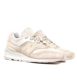 New Balance M997 Made In USA Beige Suede Trainers