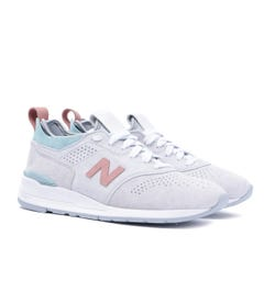 New Balance 997 Made in USA Suede & Nubuck Trainers - Stone Grey