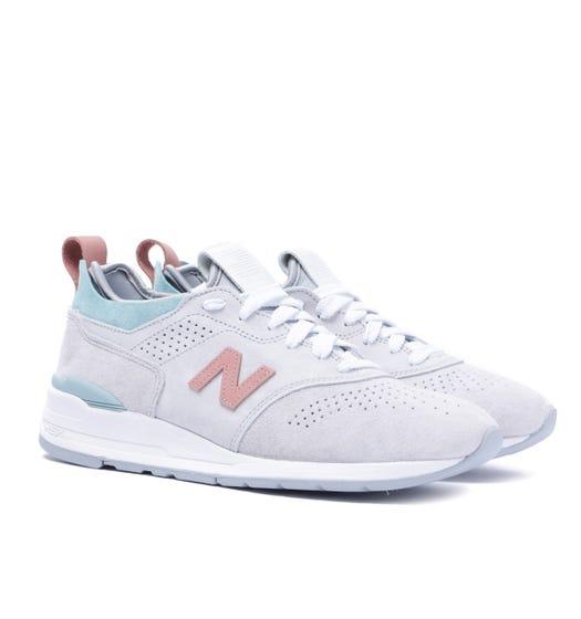 New Balance 997 Made in USA Stone Grey Contrast Trainers