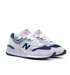 New Balance 997 Made in the USA Stone Grey & Navy Trainers