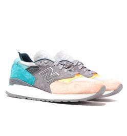 New Balance Made in USA 998 Grey, Blue & Beige Suede Trainers