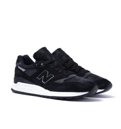 New Balance 998 Made in the USA Black Pony Hair Trainers